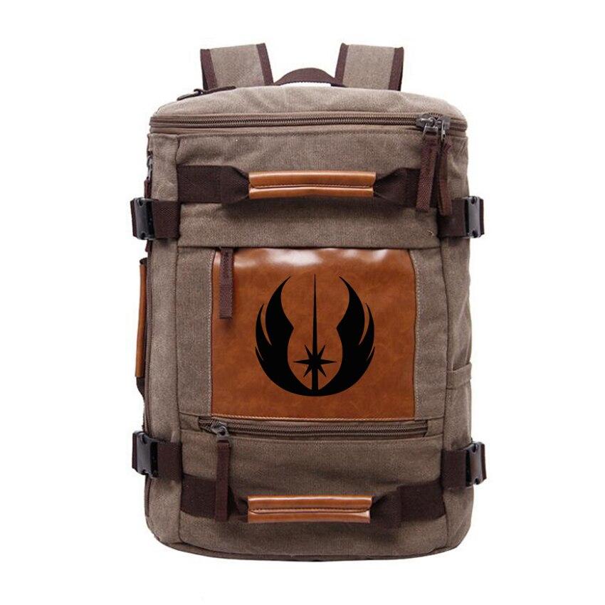 Engraved Star War Stylish Backpack Male Travel Shoulder Bag Functional Versatile Bags Men Large Capacity School