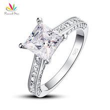 Павлин Star 925 Серебряная свадьба Юбилей Обручение Ring 1.5 ct Ювелирные изделия принцесса CFR8009