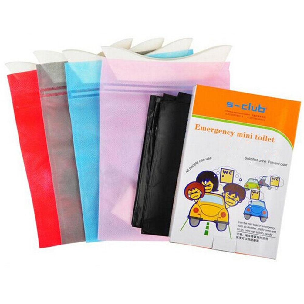 4pcs Portable Disposable Urinal Urine Bag Emergency Mini Toilet Vomit Bag Sickness