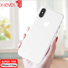 X-Level Clear Case For iPhone X XS XR Ultra Thin 0.4mm PP Back Phone Transparent Cover For iPhone XS Max Cases(China)