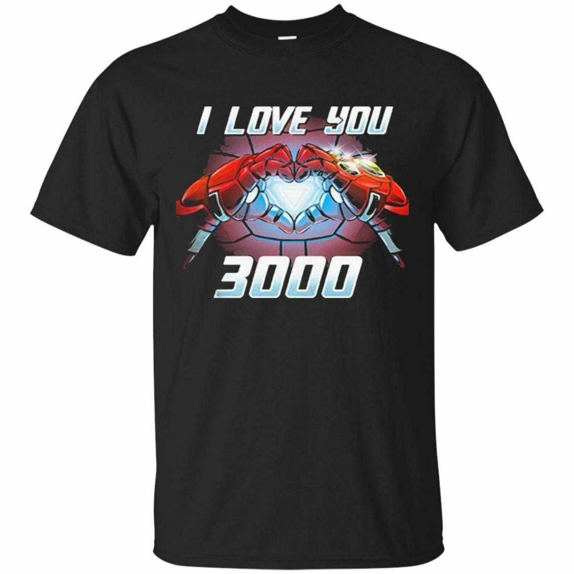 love you 3000 Times Iron Man Avengers Endgame   T     Shirt   Short Black-Navy Unisex