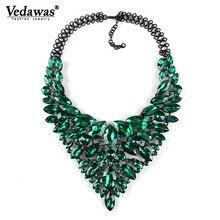 2019 New Fashion Women Jewelry Rhinestone Beads Collar Pendant Choker Necklace Colorful Crystal Statement Necklace for Women xg9