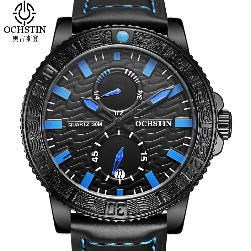 OCHSTIN Sport Men's Watch Luxury Casual Military Quartz Wrist Watch Men Waterproof Man Watch Fashion New Arrival Male Clock Men ochstin square luxury brand military watch men analog quartz wrist watch leather clock man new sport men watch army reloj hombre