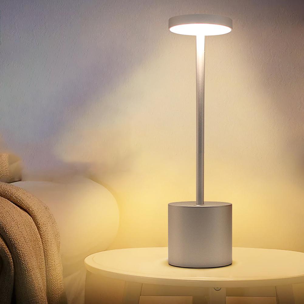 LED Touch Switch 2 Modes Adjustable Desk Lamp 3000K Eye Protection Desk Light Dimmer Rechargeable USB