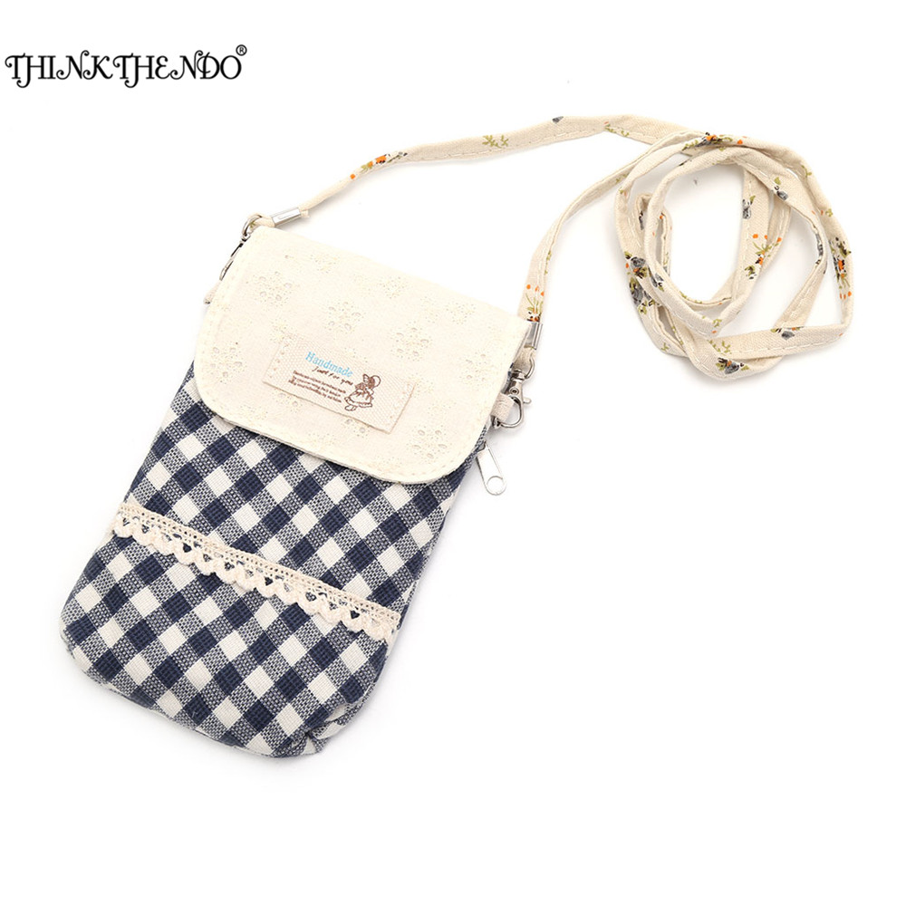 THINKTHENDO Women Girls Cute Crossbody Cell Phone Case Purse Wallet Bag Mobile Phone Bag with Shoulder