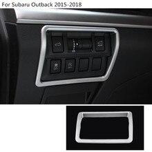Детектор автомобиль stick Стайлинг крышка ABS Хром Передняя фара переключатель отделка рамка лампа 1 шт. для Subaru Outback 2015 2016 2017 2018