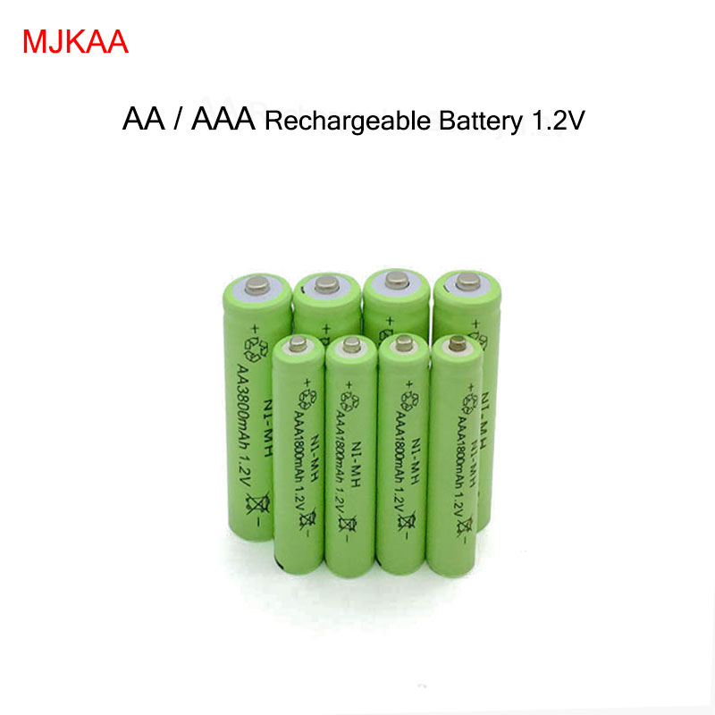 20pc <font><b>Ni</b></font>-<font><b>MH</b></font> 3800mAh AA <font><b>Batteries</b></font>+20pcs <font><b>AAA</b></font> <font><b>1800mAh</b></font> <font><b>1.2V</b></font> AA <font><b>AAA</b></font> <font><b>Rechargeable</b></font> <font><b>Battery</b></font> <font><b>NI</b></font>-<font><b>MH</b></font> <font><b>battery</b></font> for camera,toys image