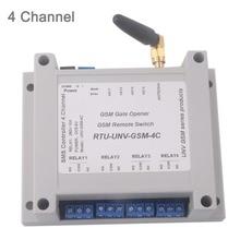 4 канальный релейный модуль SMS вызов контроллер GSM пульт дистанционного управления GSM ворот SIM800C STM32F103CBT6 5-12 В 2G