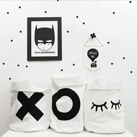 New Baby Cute Letter X O Bunny Closed Eye Canvas Toys Bags Kids Wall Pocket Children