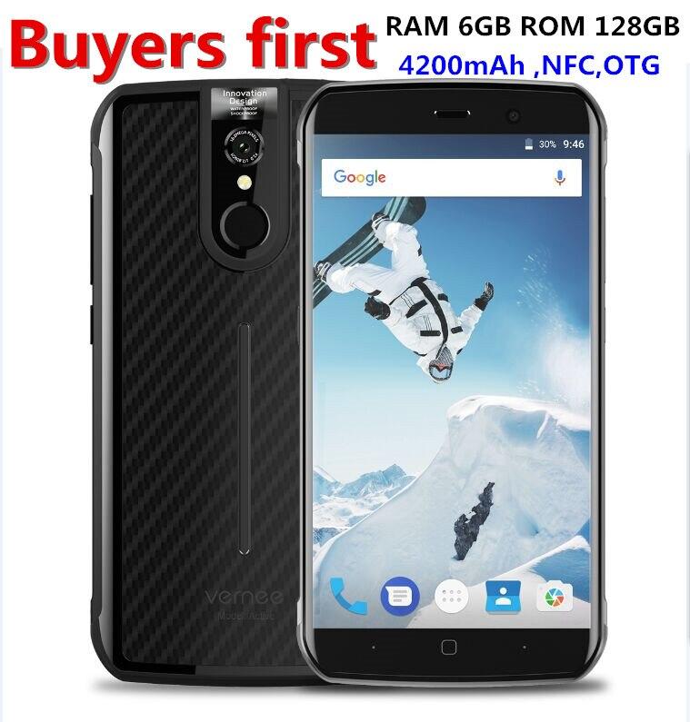 """Vernee активный 5.5 """"FHD Смартфон 6 ГБ Оперативная память 128 ГБ Встроенная память helio P25 Восьмиядерный 16MP Android 7.0 IP68 водонепроницаемый OTG NFC 4 г мобильн…"""