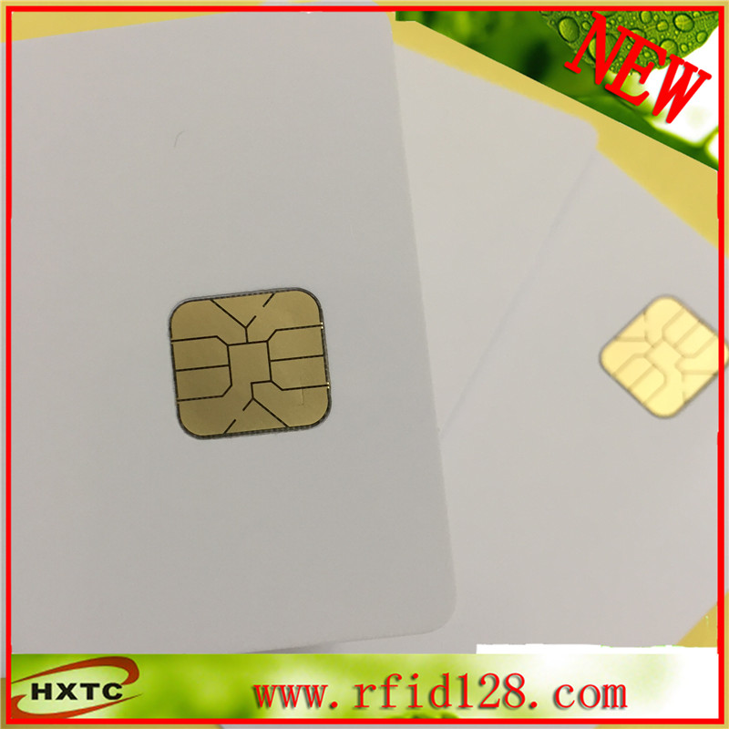 200pcs/lot Contact AT24C02 Chip Smart IC PVC Card with 2K Memory (ISO7816 Standard) for ACR38U Read Writer 20pcs lot contact sle4428 chip gold card with magnetic stripe pvc blank smart card purchase card 1k memory free shipping