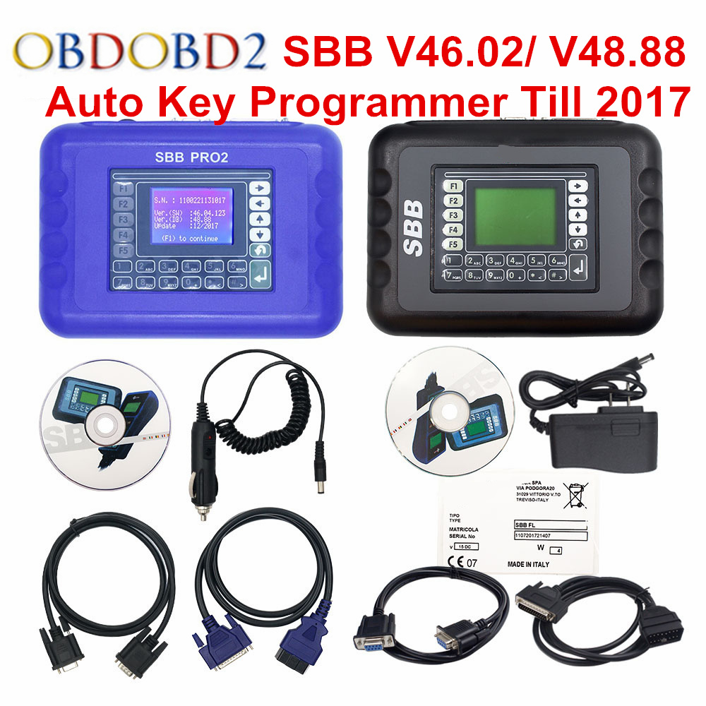 2018 SBB Pro2 V48.88 SBB V46.02 Auto Key Programmer Update of SBB V33.2 V33.02 Car Key Transponder SBB 48.88 46.02 Key Maker meinl tmt2b bk