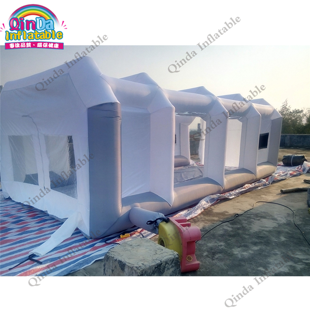 Free Shipping 2 Air Blowers Outdoor Portable Paint Booths Inflatable Spray Booth,Used Spray Booth Car Tent For Sale