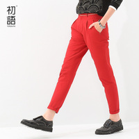 2015 New Style Toyouth Autumn Women Pencil Pants Slim All Match Fashion Long Casual Trousers Plus