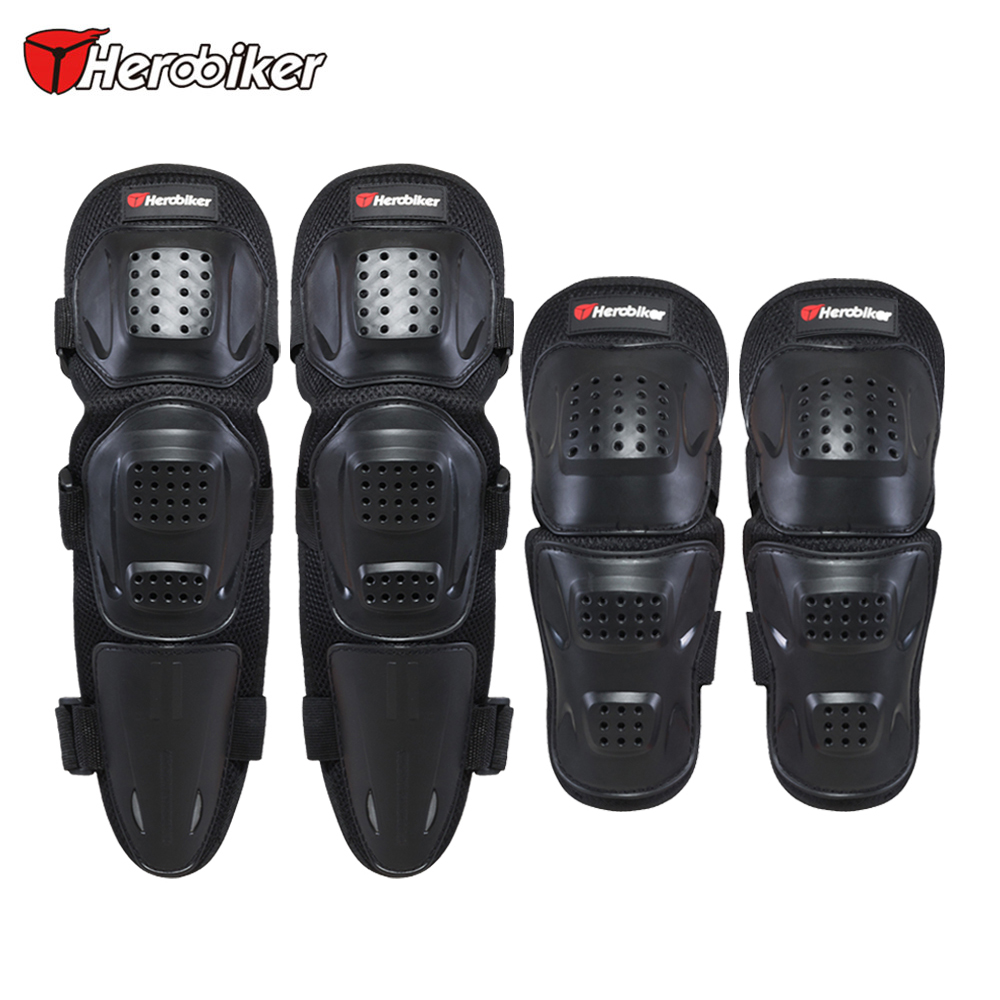 HEROBIKER Motorcycle Elbow & Knee Pads Motocross Protective Gear Set Unisex Motorcycle Kneepad Riding Knee Protector Guards new 4pcs set motorcycle motorbike knee pads elbow pads motocross off road racing protector pads guards protective gear 5 colors