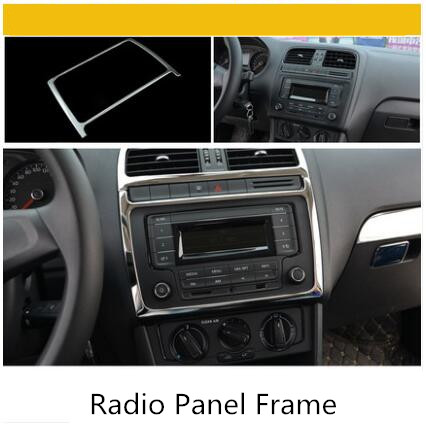 Серебристая нержавеющая сталь молдинги воздуха на выходе/фар/окна siwch рамки для Volkswagen POLO2011 12 13 14 15 16 AA339A - Название цвета: A