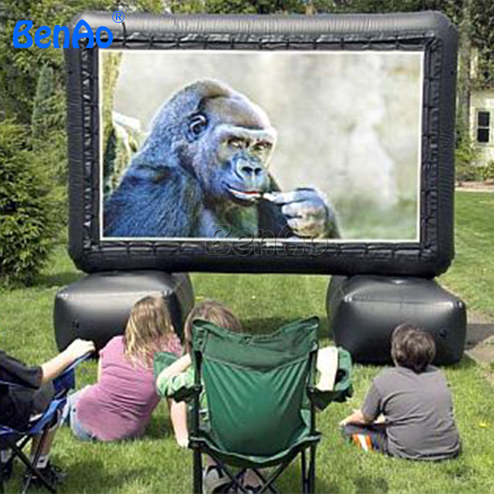 M018 Free shipping+free air blower hot-selling outdoor inflatable moive screen/inflatable cinema screen for outdoor movie show free shipping inflatable air blower pump 800w