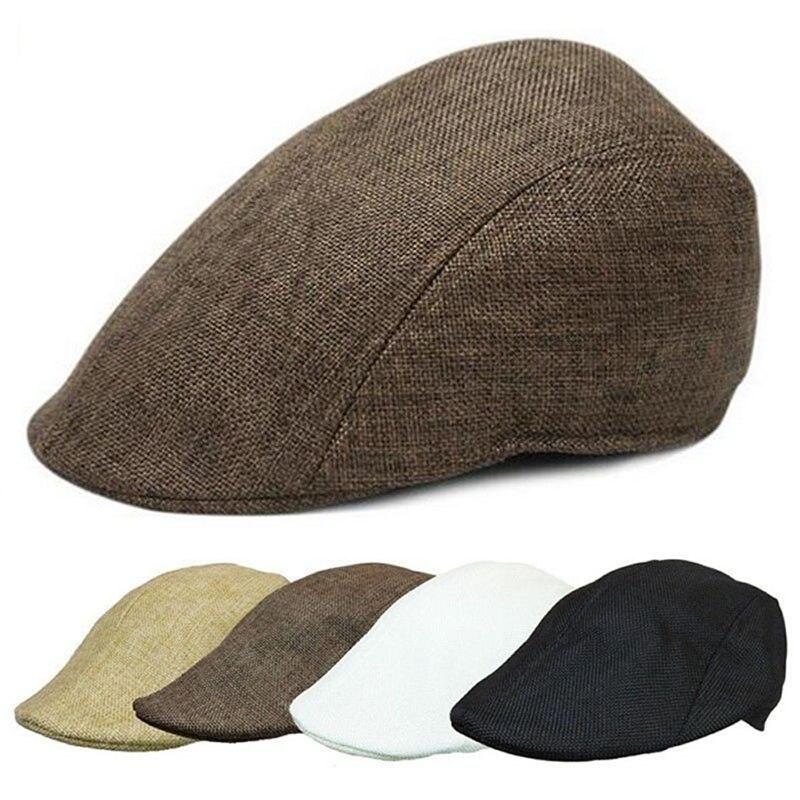 a0afcc69523 1 PC new arrival Casual Men Women Duckbill Ivy Cap Golf Driving Sun Flat  Cabbie Newsboy Beret Hat  J