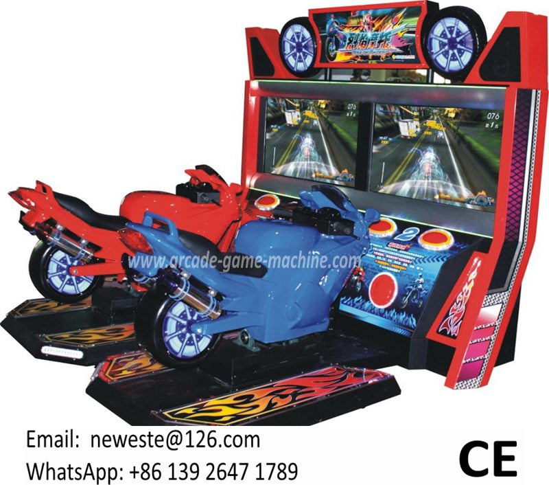 Arcade Simulator Motorbike Coin Operated Driving MOTO Car
