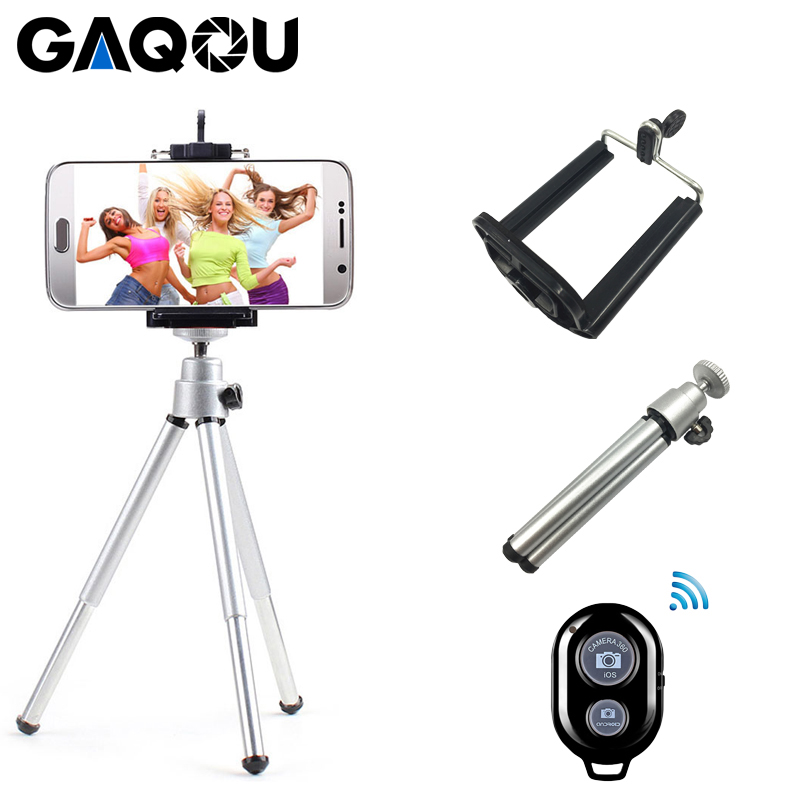 Portable Mini Tripod For Iphone XS Samsung With Mobile Phone Holder Stand Remote Shutter Digital Camera Phone Bracket Flexible
