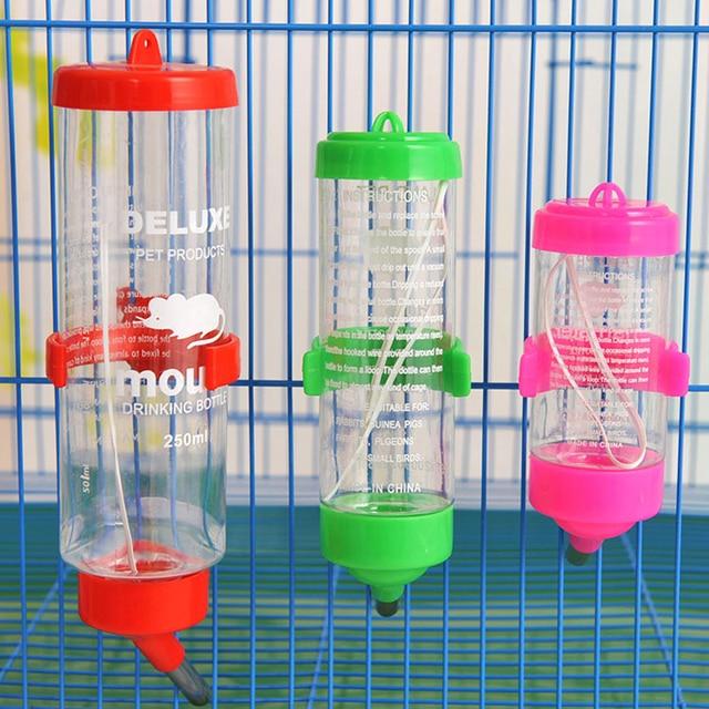 Hanging Plastic/Stainless Steel Guinea Pig - Squirrel - Rabbit - Hamster Water Drinking Dispenser 80ml 125ml 250ml 1