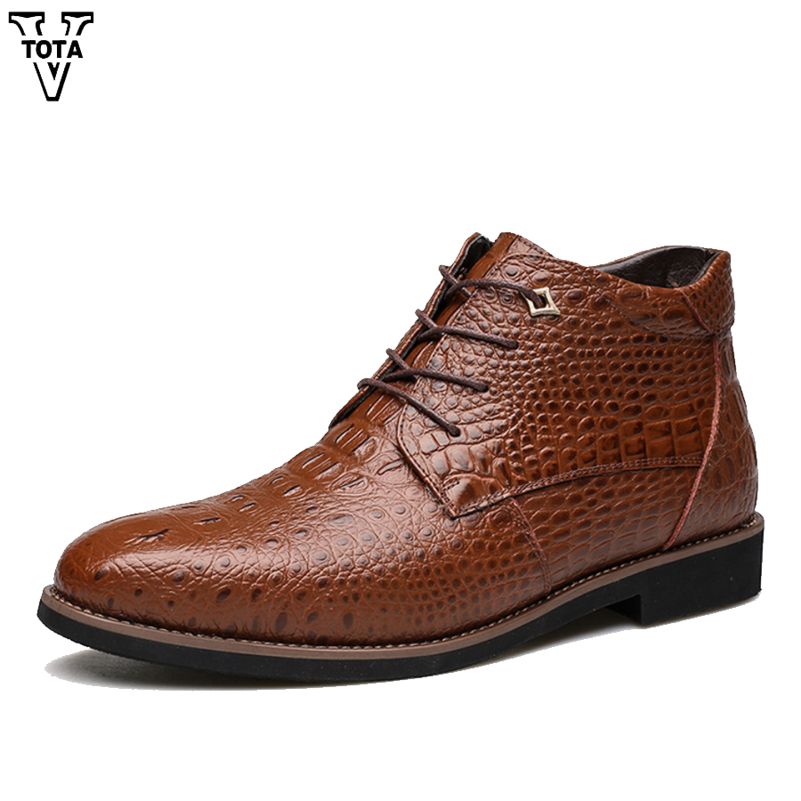 VTOTA Handmade Genuine Leather Winter Warm Roam Boots Zipper Ankle Boots Casual Snow Boots Plush Business Style Men Shoes brand men boots fashion hot bullock shoes handmade warm genuine leather winter boots men casual british style ankle snow boots