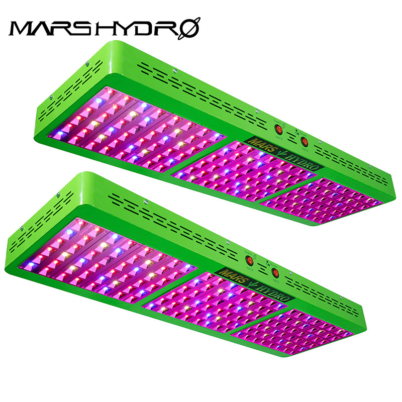 2pcs Full Spectrum Reflector 800W LED Grow Light Panel Growth&Bloom Switches for Hydroponic Grow Indoor plant or Green house use