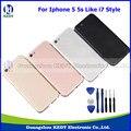 """Оригинальные Запасные Части для iPhone 5 5S 4.0 """"металл Вернуться Корпус крышка Батарейного Отсека Крышка Ассамблея Как 7 Мини Стиль + Инструменты"""