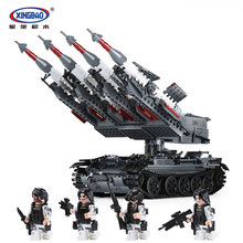 Xingbao 06004 1753Pcs The Military Series SA-3 missile and T55 Tank Set Children Educational Building Blocks Bricks Toys
