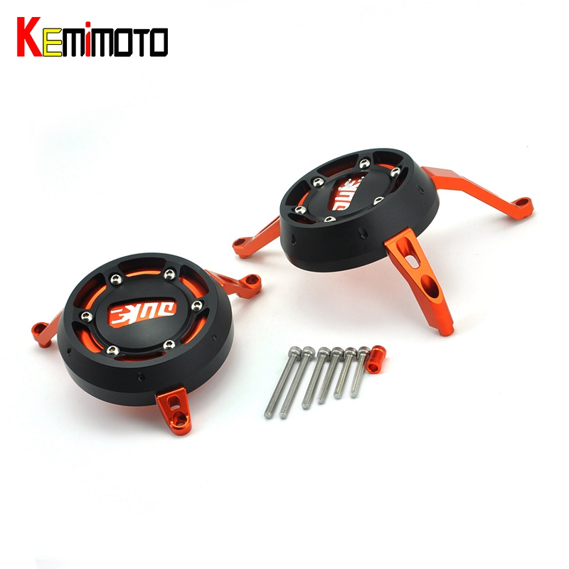 KEMiMOTO For KTM 390 200 Frame Slider 2012 2013 2014 2015 DUKE RC390 RC200 CNC Engine Cover Engine Guard Case Saver Protection for ktm logo 125 200 390 690 duke rc 200 390 motorcycle accessories cnc engine oil filter cover cap