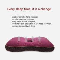 Bamboo Fiber Magnet Massage Cotton Neck Pillow Cervical Vertebral Correction Ear Protection Travel Neck Pillows for Sleeping