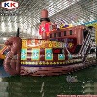 KK Fabrik riesigen aufblasbaren piraten schiff trocken rutsche  Kinder lustige park hüpfburgen mit rutsche combo-in Aufblasbare Hüpfburg aus Spielzeug und Hobbys bei