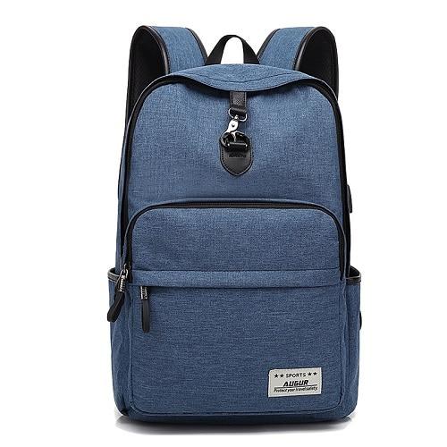 Dropwow AUGUR Fashion Brand Backpacks Anti-thief USB Charging Men ... c792021a57f24