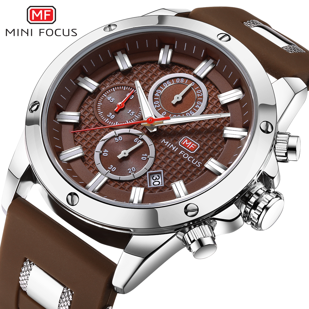 MINI FOCUS Top Brand Luxury Chronograph Men Sports Watches Men's Quartz Army Military Watch Male Analog Clock relogio masculino benyar luxury top brand men watches sports military army quartz wrist watch male chronograph clock relogio masculino gift box