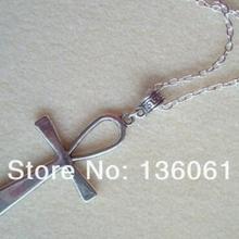 Vintage cruz de plata pentagrama pájaro Jesús gato bebé cochecito corazón zapatos grúa sol collar de fútbol colgante para las mujeres joyería