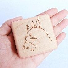 Sinzyo Handgemachte Holz Tonari No Totoro Musik Box Holz Geschnitzt Mechanismus Musical Box Geschenk Für Weihnachten valentinstag, geburtstag