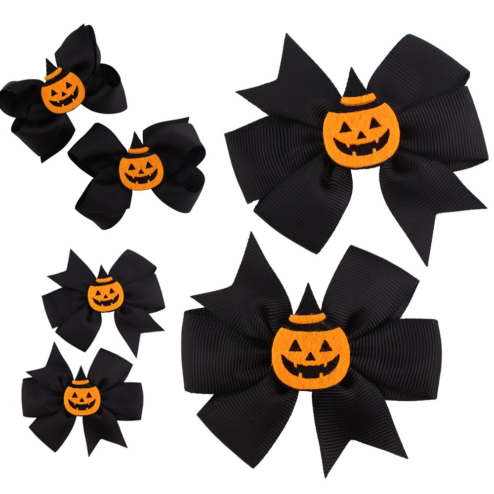 PARRY 2018 Drop Ship Model Number() 1 Pair Fashion Halloween Toddler Baby Kids Girls Bowknot Hairpin Headdress Sep27