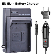 EN-EL14 ENEL14 EN EL14a Battery Car Charger + EU Plug for For Nikon D3100 D3200 D3400 D5100 D5200 D5300 D5600 DF P7000 P7100 P78