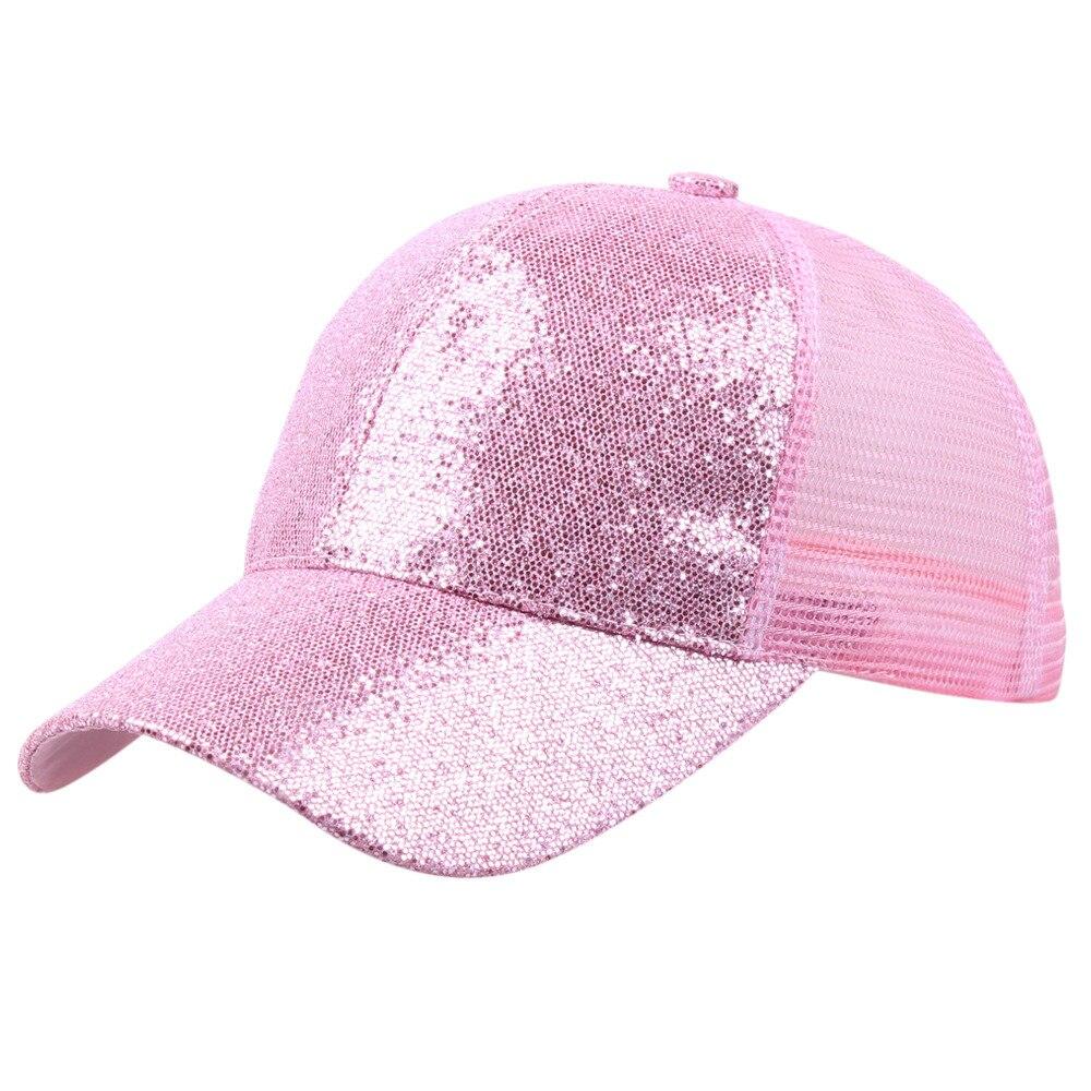 Блестящая бейсбольная кепка с хвостом, женский рюкзак, грязная летняя шапка, Женская регулируемая бейсболка, шляпы в стиле хип-хоп, новая мода - Цвет: PK