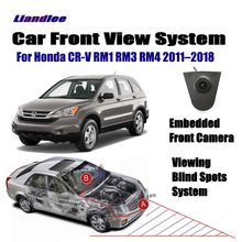 Liandlee Car Front View Camera Logo 4.3 LCD Screen Monitor Display Cigarette Lighter For Honda CR-V CRV RM1 RM3 RM4 2011-2018