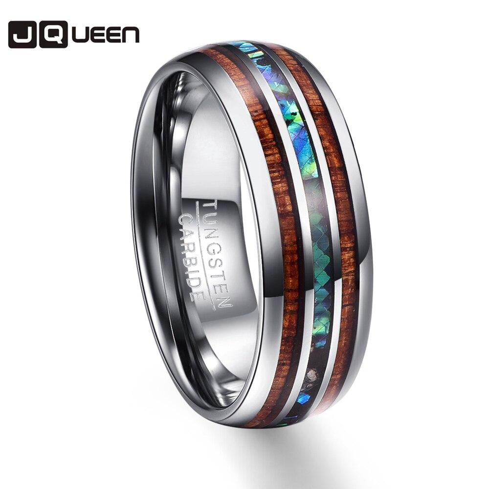 Под Дерево полировки Для мужчин кольца средний 100% Вольфрам карбида обручальные Multi-размер Anillos para hombres Pierscienie