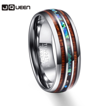 Wood Grain Polishing Men Ring