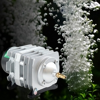 45L Min 25W Electromagnetic Air Compressor Aquarium Oxygen Pond Air Pump Aerator K400Y