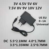 AC 100-240V DC 3V 4.5V 5V 6V 7.5V 8V 9V 10V 12V 1A adaptateur d'alimentation universel convertisseur alimentation pour bande de lumière LED
