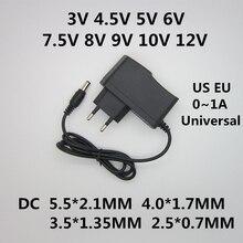 AC 100-240V DC 3V 4,5 V 5V 6V 7,5 V 8V 9V 10V 12V 1A Универсальный адаптер питания конвертер переключатель питания для светодиодной ленты