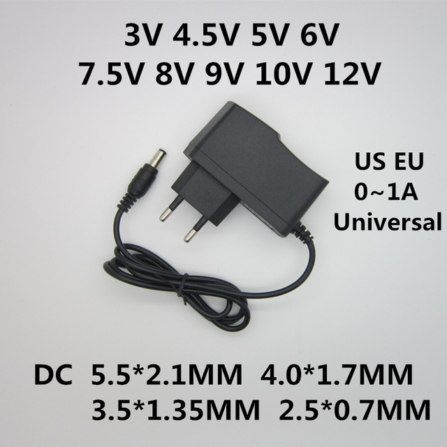 AC 110-240V DC 3V 4.5V 5V 6V 7.5V 8V 9V 10V 12V for 1A LED light strip Universal power adapter Converter switch power supply