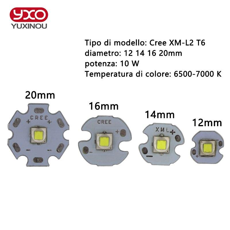 1 PCS CREE XML2 LED XM-L2 T6 U2 10W WHITE Neutral White Warm White High Power LED Emitter with 12mm 14mm 16mm 20mm PCB for DIY sitemap 34 xml