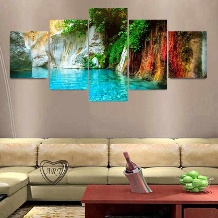 unidades modernas pinturas al leo sobre lienzo de arte decoracin de las paredes de piedra