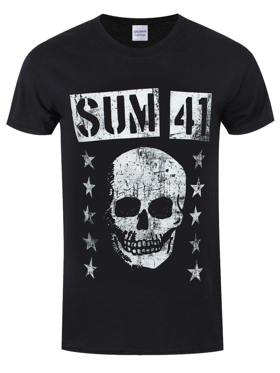 Sum 41 Herren T Shirt Grinning Skull 2018 Summer Brand