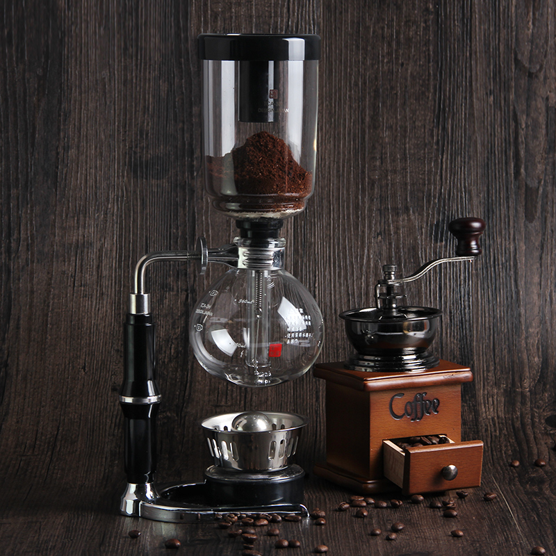 First House Coffee Maker Machine  Siphon Type Coffee Pot Distilled Glass Pot Manual Espressor Coffee Maker Set Free Shipping dmwd japanese style siphon coffee maker tea siphon pot vacuum coffeemaker glass hydrocone type coffee machine filter 3cup 5cups